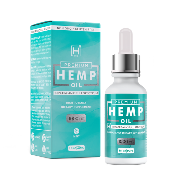 CBD Tincture Oil (1000mg) - Hemp Health One