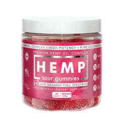 CBD Sour Gummies (300mg) - Hemp Health One