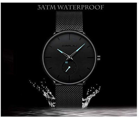 Slim Mesh Steel Waterproof Minimalist Wrist Watch