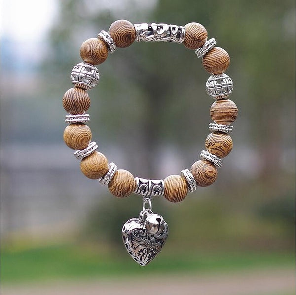 Natural Tiger Eye Stone w/ Heart Pendant™ - Luxury Goods Mall