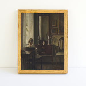 Girl Reading by a Window | Printed Artwork | 30