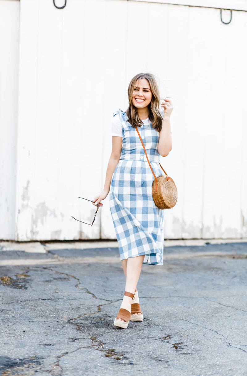 Blue Gingham Spring Dress