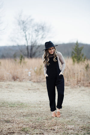 Black Jumpsuit Overalls