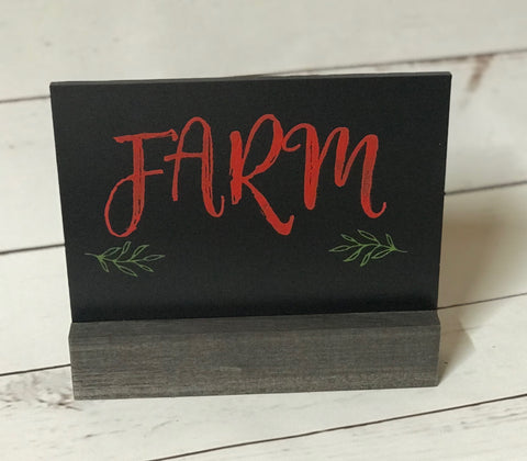 """Farm"" Chalkboard Sign"