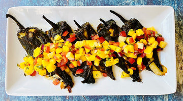 Fall Squash Stuffed Poblanos