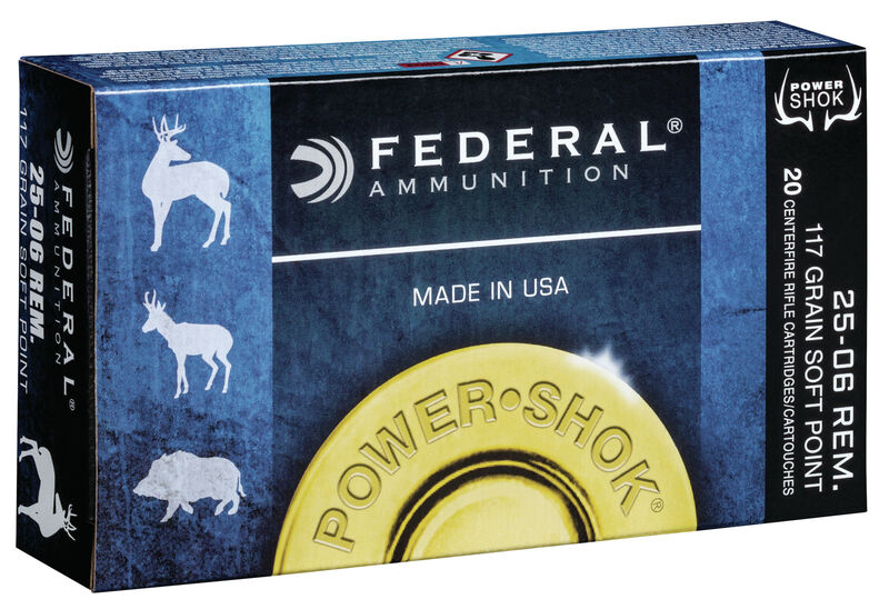 Federal Premium 25-06 Rem 117gr Power-Shok - BLUE COLLAR RELOADING