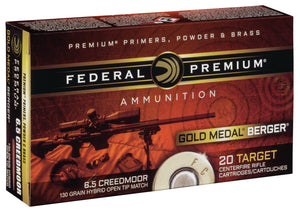 Federal Premium 6.5 Creedmoor 130gr Hybrid Open Tip Match - BLUE COLLAR RELOADING