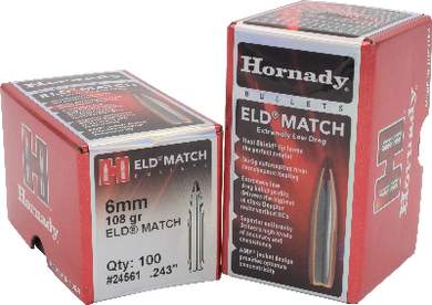 Hornady 6mm 108gr ELD Match  #24561 - BLUE COLLAR RELOADING
