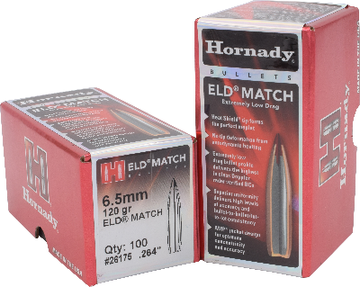 Hornady 6.5mm 120gr ELD-Match  #26175 - BLUE COLLAR RELOADING