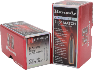 Hornady 6.5mm 123gr ELD-Match  #26176 - BLUE COLLAR RELOADING