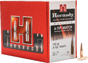 Hornady 6.5mm 135gr A-Tip Match #26179 - BLUE COLLAR RELOADING