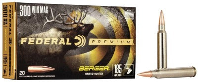 Federal Premium 300 Win Mag 185gr Berger Hybrid Hunter