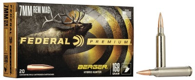 Federal Premium 7mm Rem Mag 168gr Berger Hybrid Hunter