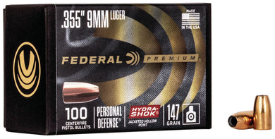 Federal Premium 9mm 147gr Hydra-Shok - BLUE COLLAR RELOADING
