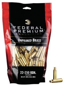 Federal 22-250 Rem Brass - BLUE COLLAR RELOADING