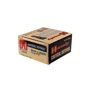 Hornady 9mm Luger 115gr Critical Defense - BLUE COLLAR RELOADING