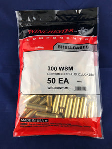 Winchester 300 WSM Brass - BLUE COLLAR RELOADING