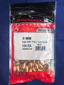 Winchester 9mm 124gr FMJ-FB - BLUE COLLAR RELOADING