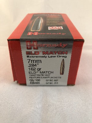 Hornady 7mm 162gr ELD-Match  #28403 - BLUE COLLAR RELOADING