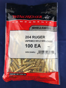 Winchester 204 Ruger Brass