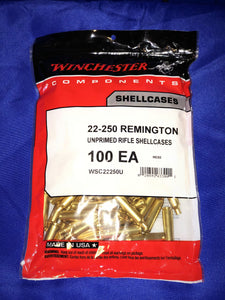 Winchester 22-250 Remington Brass