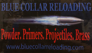 "BCR 6""x4"" Window Decal - BLUE COLLAR RELOADING"