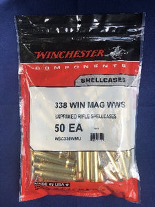 Winchester 338 Win Mag Brass - BLUE COLLAR RELOADING
