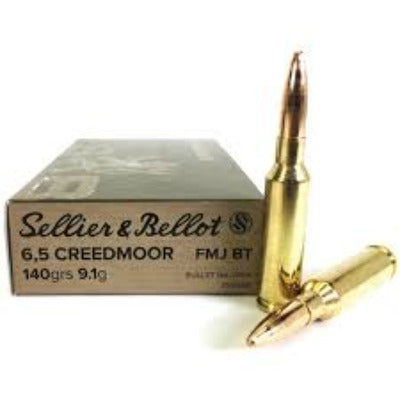 Sellier & Bellot 6.5 Creedmoor 140gr FMJ - BLUE COLLAR RELOADING