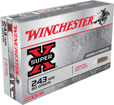 Winchester 243 Win 80gr Jacketed Soft Point