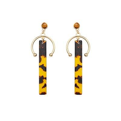 Yhpup New Fashion Acrylic Resin Geometric Drop Earrings Long Earrings Pendientes Mujer Moda 2019 Leopard Women Jewelry Gifts