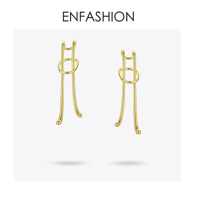 ENFASHION Loose Knot Ear Cuff Clip On Earrings For Women Gold Color Lady Big Earings Without Piercing Fashion Jewelry E201150 - Flairsuite Jewels