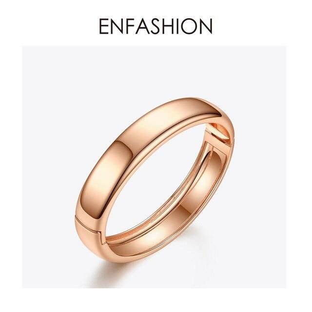 ENFASHION Blank Wide Cuff Bracelets For Women Accessories Gold Color Simple Minimalist Bangles Fashion Jewelry Wholesale B192029