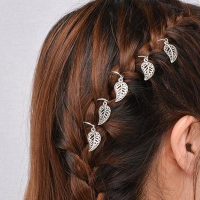 1 lot =5 piece New fashion Hair Jewelry silver plated Retro punk lovely cross leaf Headwear nice gift for women girl HA-93