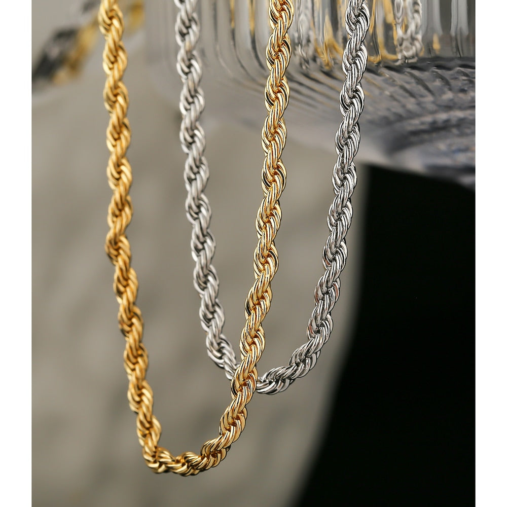 Yhpup Minimalist Metal Chain Twisted Necklace Statement Copper Collares Jewelry Fashion New Necklace Bijoux Party Gift 2020