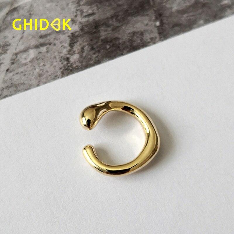 GHIDBK 2019 Trendy Handmade Non Piercing Cartilage Earrings Chunky Statement Ear Clips Minimalist Ring Earring Irregular Jewelry - Flairsuite Jewels