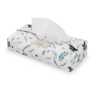 Cam Cam baby wipes cover - Pressed leaves blue