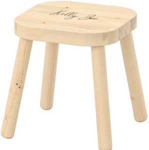 Stool with name
