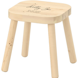 Stool with name and date