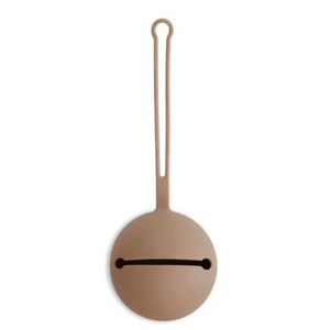 Mushie silicone pacifier holder - Natural