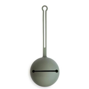 Mushie silicone pacifier holder - Dried Thyme