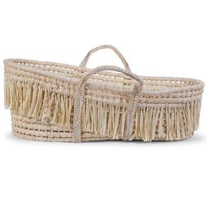 Childhome Moses basket raffia natural - including mattress