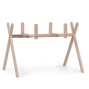 Childhome Moses basket stand + baby gym - Natural