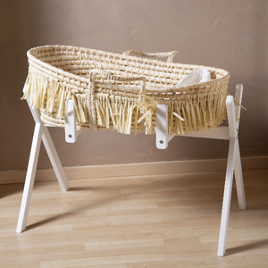 Childhome Moses basket stand + baby gym - White