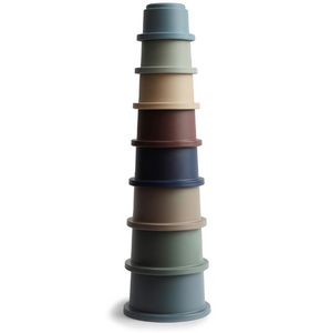 Mushie stacking cups forest - Stacking tower