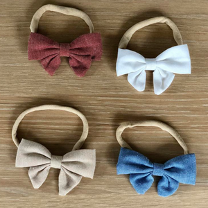 Linen headband bow - Different colors