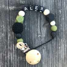 Load Image into Gallery View, Pacifier Clip - 'Alex'
