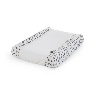 Childhome changing pad cover - Jersey / terry leopard