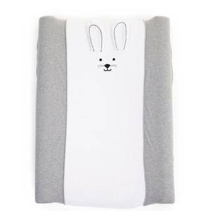 Childhome changing pad cover - Rabbit / gray / jersey