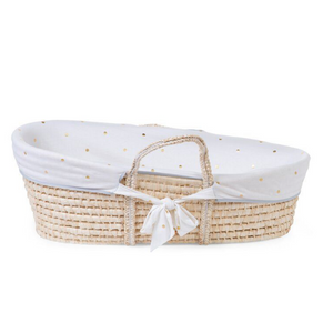 Childhome Moses basket cover - Gold dots