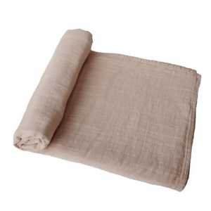 Mushie hydrophiles Tuch XL Wickel - Hell taupe